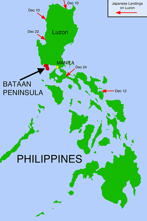 the epic battle of bataan that leads to the death march The bataan death march was an event that took place in the philippines during world war two it occurred after the filipinos and americans formally surrendered to the japanese at april, 9, 1942.