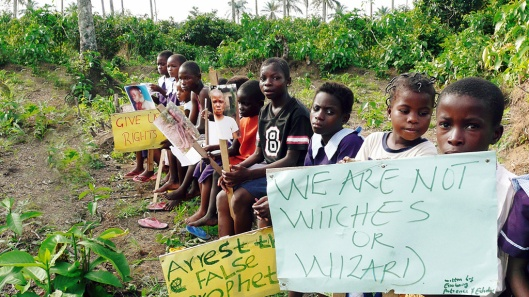 Witches as accused protesting