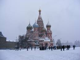 St Basil Moscow in snow
